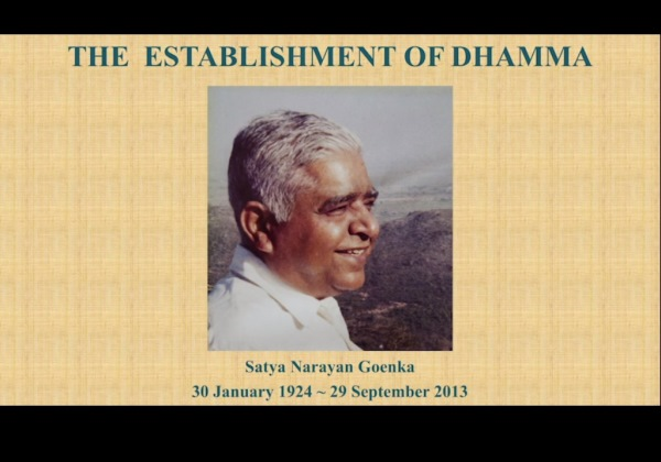 Life of S.N. Goenka (1924-2013) - Part 1. S.N. Goenka's early years: his childhood, his training under Sayagyi U Ba Khin and the establishment of Dhamma in India.